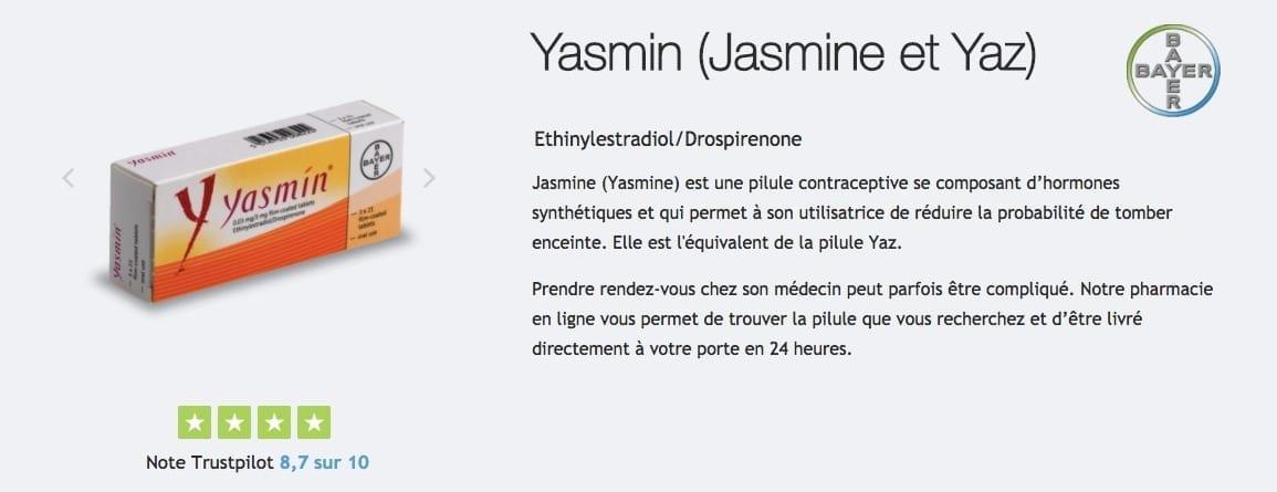 Acheter Pilule Jasmine : description, prix, effets