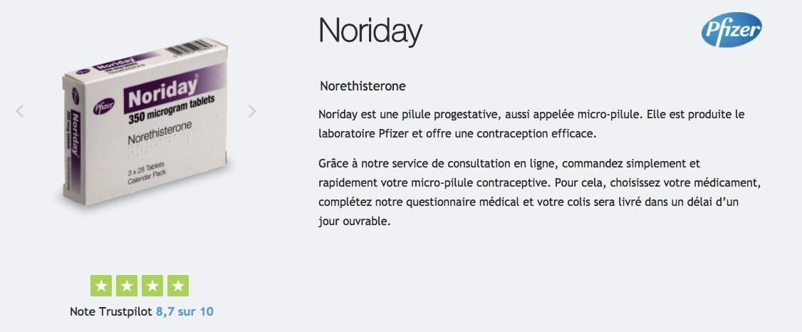acheter noriday