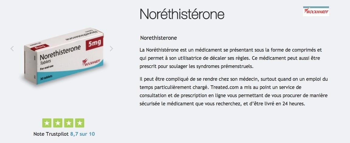 Pilule Noréthistérone pour retarder les règles : description ...