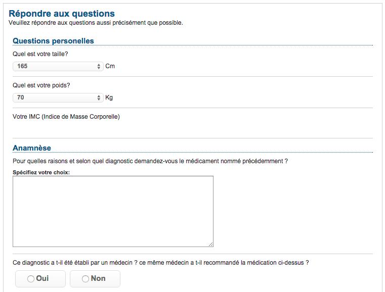 questionnaire médical dokteronline