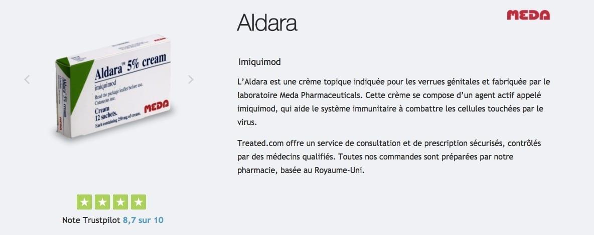 Acheter Aldara : prix, posologie, effets secondaires