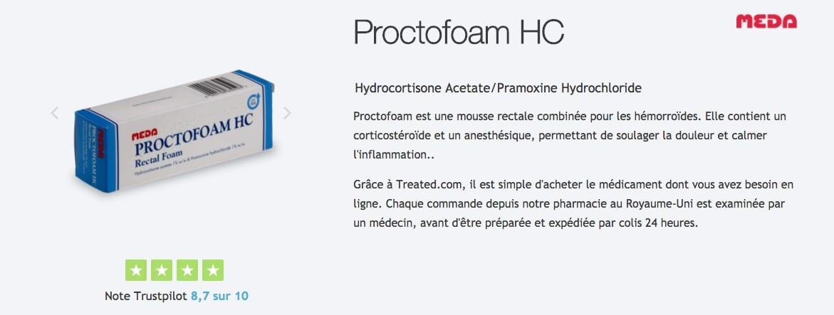 acheter proctofoam contre les hemorroides
