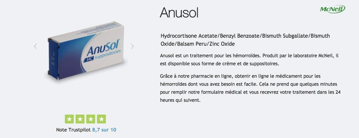 acheter anusol contre les hemorroides