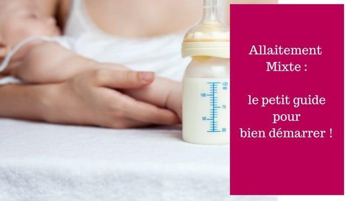 allaitement mixte guide