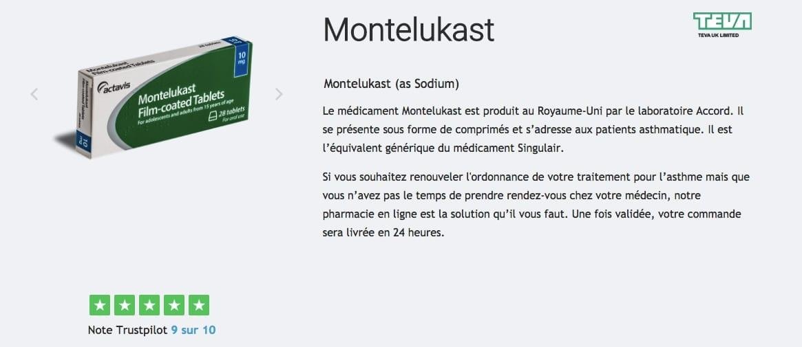 acheter montelukast asthme