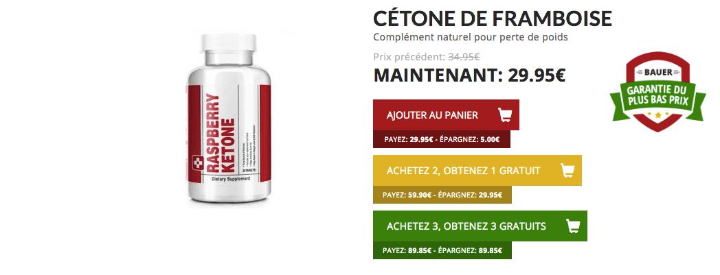 acheter cetone framboise