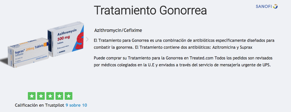 comprar pack tratamiento gonorrea