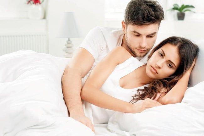 unhapy sex life couple