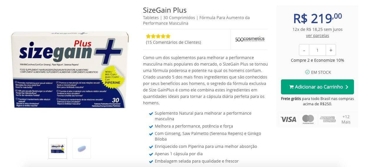 sizegain brazil