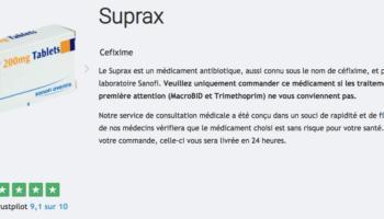 guide suprax cystite