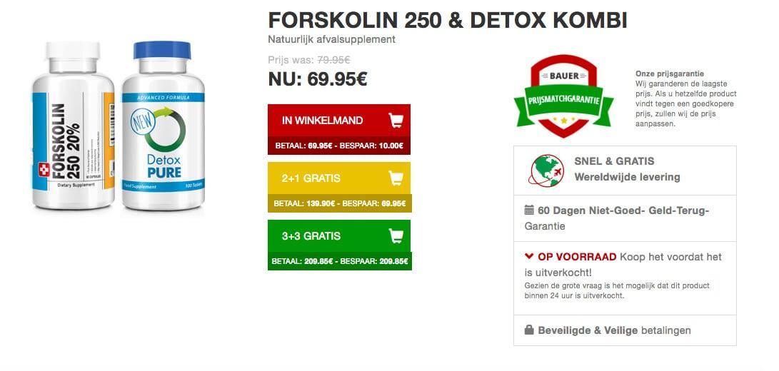 forskolin pack