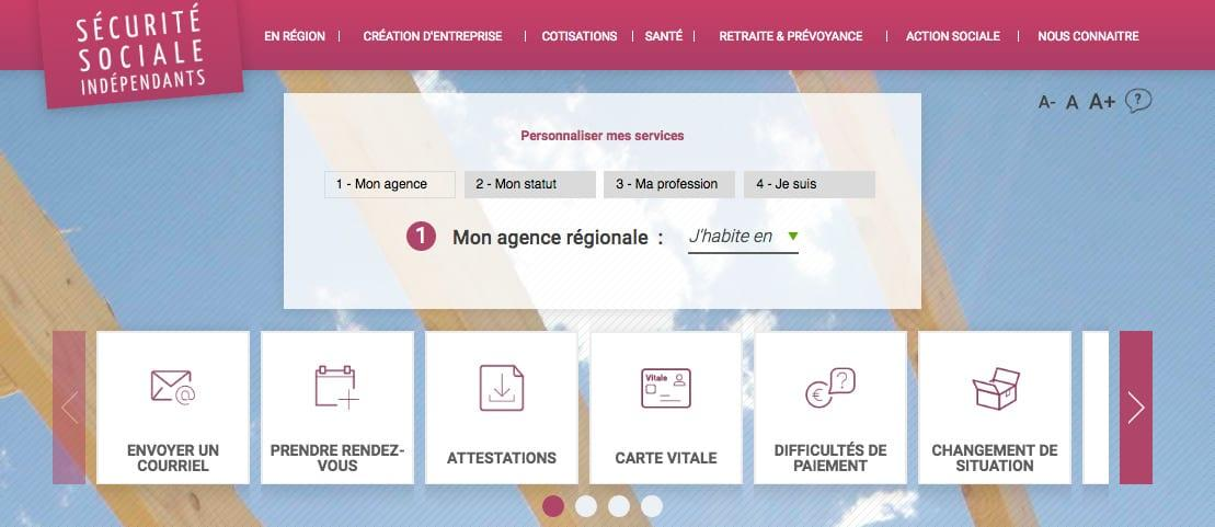 site secu-independants.fr