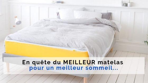 meilleur sommeil meilleur matelas