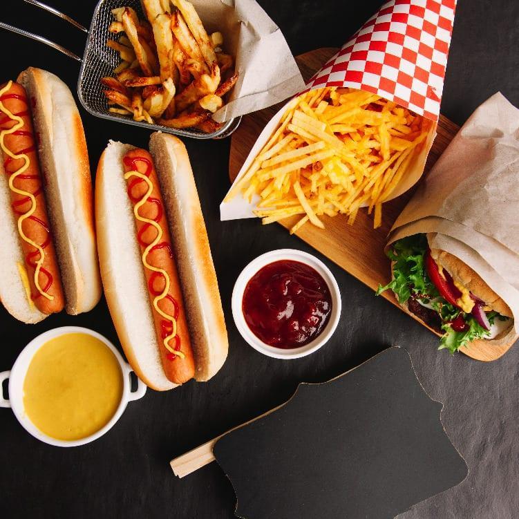 assortiment fast food