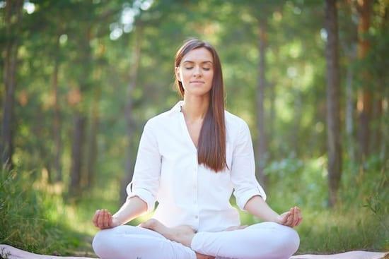 méditation dans les arbres