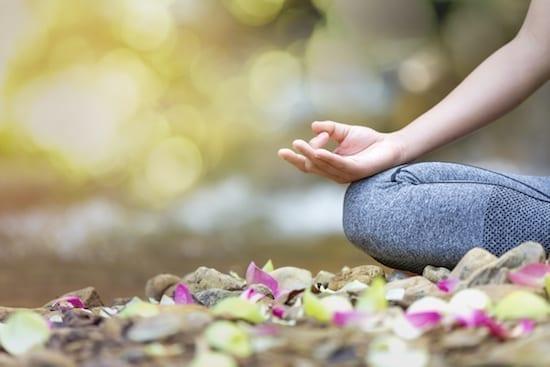 méditation en extérieur