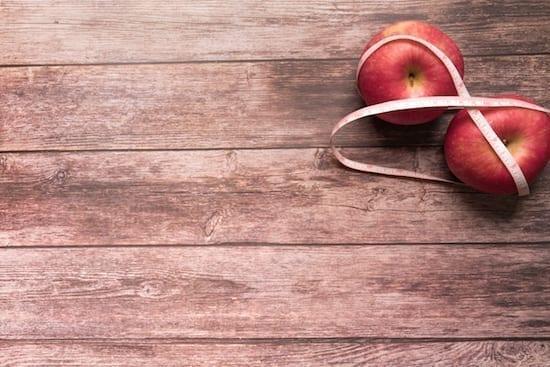 diète et pommes