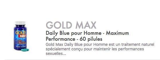 goldmax daily blue pour homme