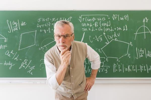 professeur en colère